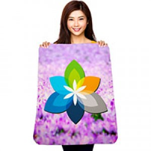 "30"" x 40"" Dye Sublimated Whip Stitched Polar Fleece Blanket"